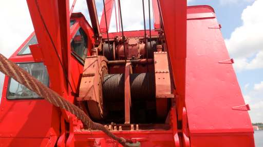 Marine Equipment Package 65T Crane 36' Push Boat 105' Deck Spud Barge For Sale