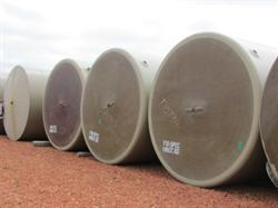 (5) 400 BBL Fiberglass Production Tanks For Sale