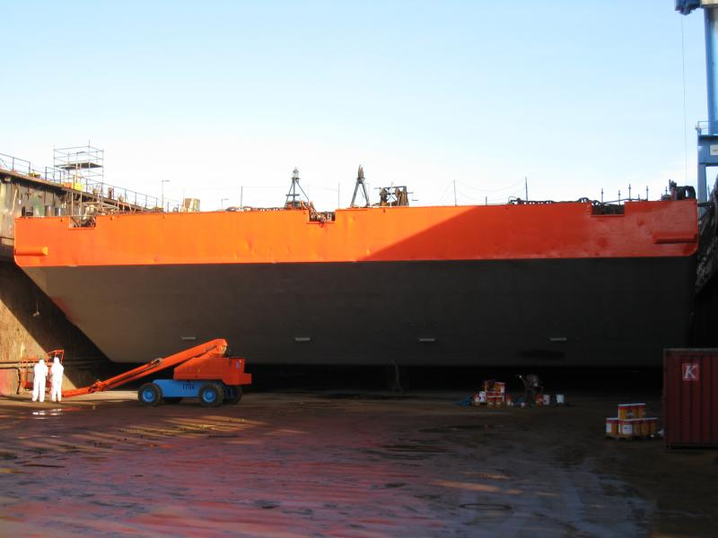 300' x 90' Deck Barge with 8' Steel Bin Wall - DNV Class For Sale
