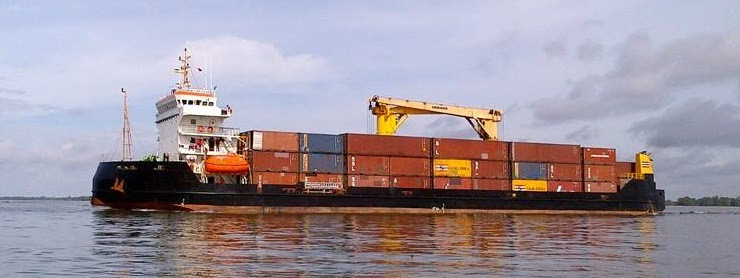 86m Self Propelled Barge 2005 - Container Barge Geared - DWT 4352 For Sale