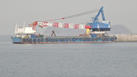 50m Revolving Crane Barge - 155ton - Japan Built - GRT 951 For Sale
