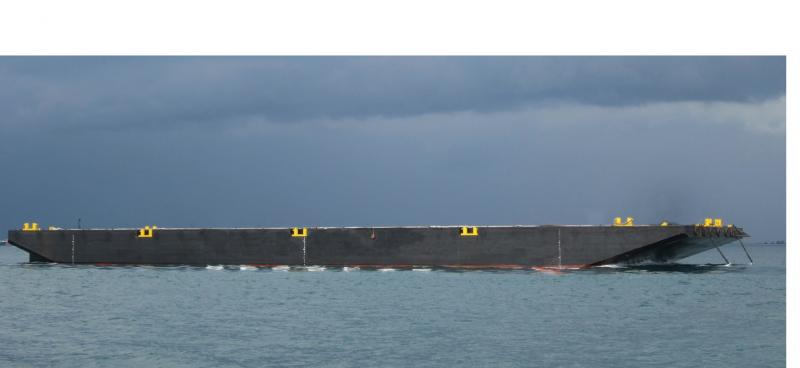 300' x 100'  ABS deck barge for sale or lease