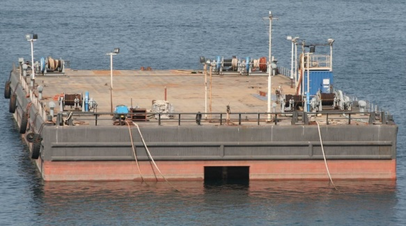 91m Ballastable Deck Barge RINA Class 9500 Ton Capacity For Sale