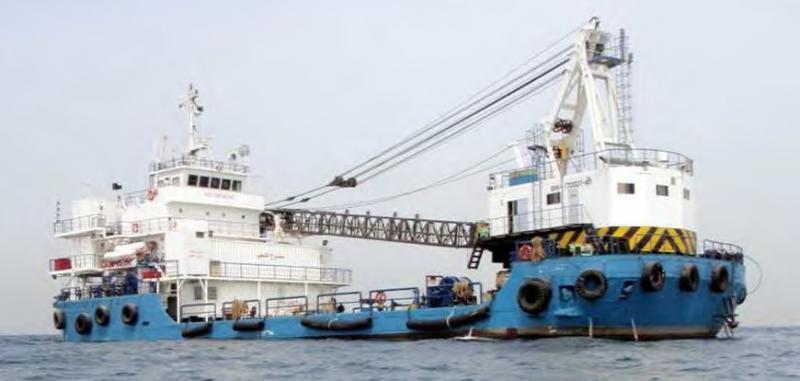 Offshore Diving Support Crane Ship For Sale