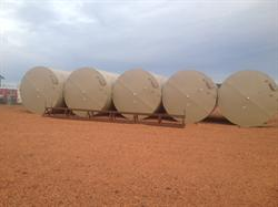 Lot Of (10) Steel Tanks 400 BBL 12'x20' Cone B For Sale