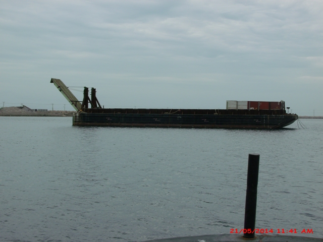 182' Deck Bin Wall Barge with Ramp For Sale