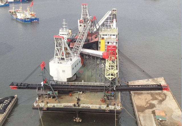 111m Pontoon Cargo Crane Barge For Sale