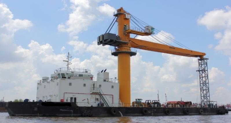 65m Floating Crane Barge - For Sale