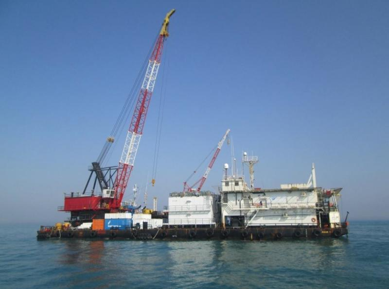 73m ABS Accommodation Crane Barge For Sale