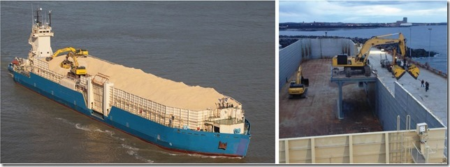 130m Self Propelled Barge Side Walls and Side Ramp DWT 7700 MT For Sale