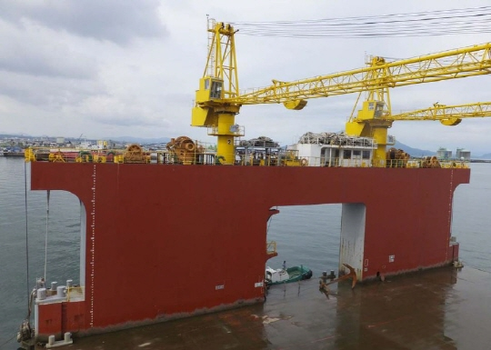 56m Caission Floating Dock - 6500t Lifting Capacity For Sale