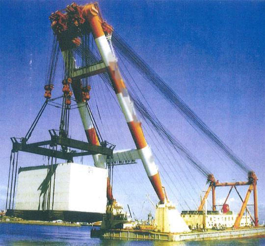 94m Floating Crane - 3000t Lifting Capacity - Lifting Jib Type For Sale