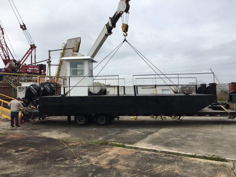 30' truckable push boat for sale