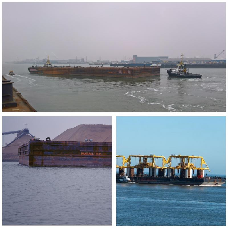 122m Ballastable Flat Top Barge 1986 - Raked Bow For Sale