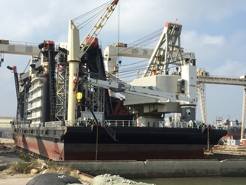 111m Transfer Barge with Dual Crane 80 tons each For Sale