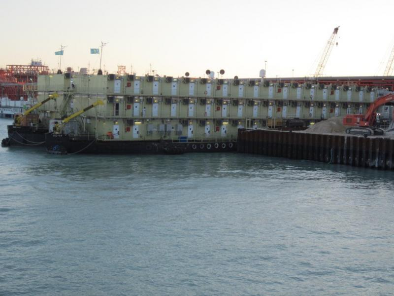 290 man Accommodations Barge for sale
