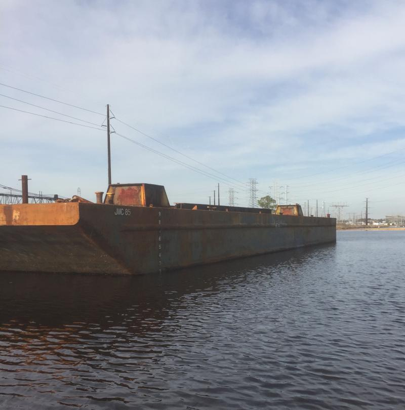 140' x 50' x 10' ABS Spud Barge For Sale