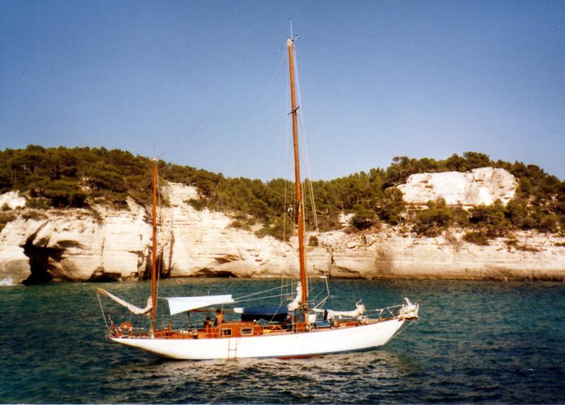 57' Classic Yawl Racer Cruiser For Sale