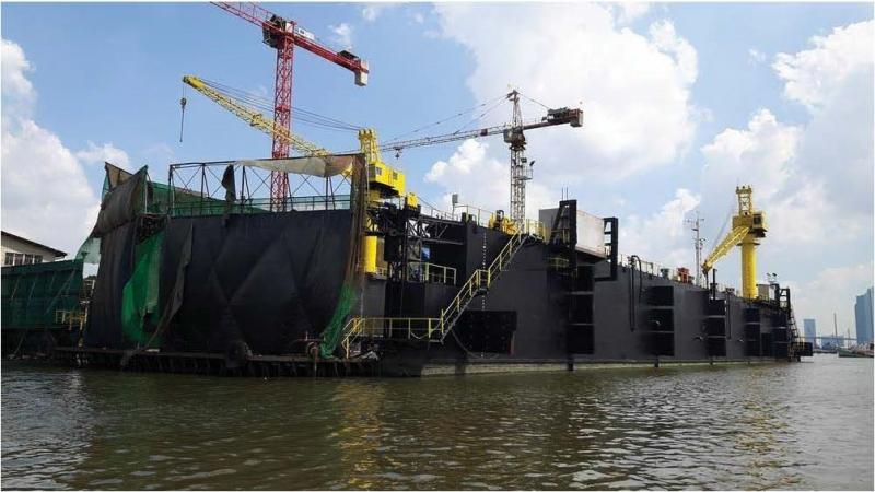 108m Floating Dock 2007 - 4500t TLC For Sale