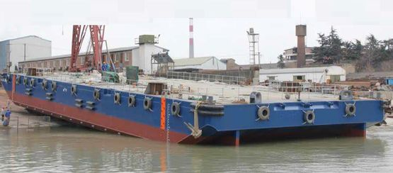 55m Ballastable Spud Barge 2015 - Charter with Option For Sale