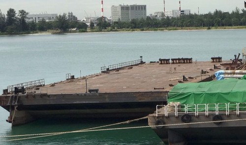 250' X 2 Deck Cargo Barges 2007 - 20t sqm Deck Strength -DWT 4855