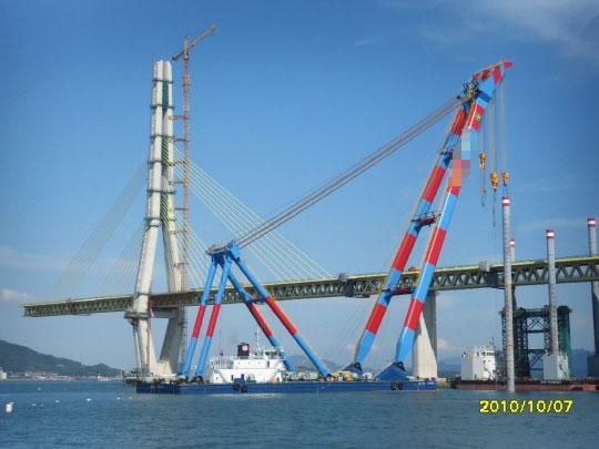 78m Floating Crane 2010 - 1200t TLC For Sale