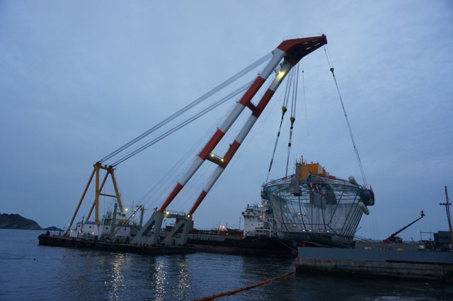 23m Floating Crane 1994 - 350 TLC - Japan Built For Sale