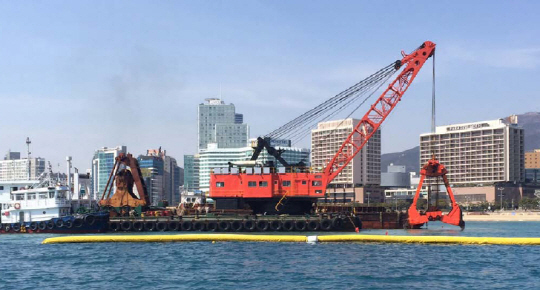 50m Grab Dredger 1973 - 16 CBM - Refurbished 2014 For Sale
