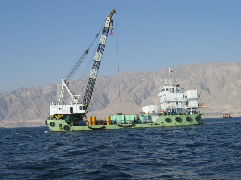 47m Self Propelled Crane Barge 150 ton DP2 For Sale by www.horizonship.com