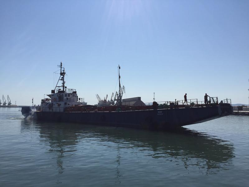 178' Landing Craft RORO Dredger Crane Excavator Self Propelled Barge For Sale