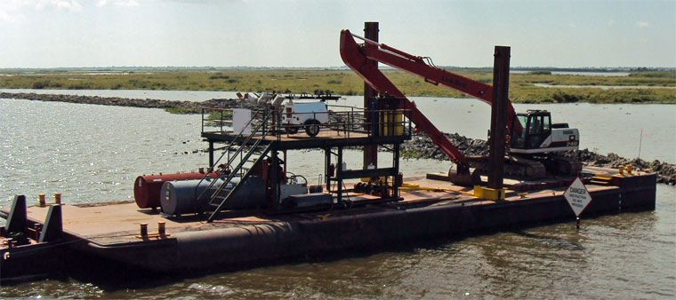 90' x 30' Inland Deck Spud Barge - DWT 150 For Sale