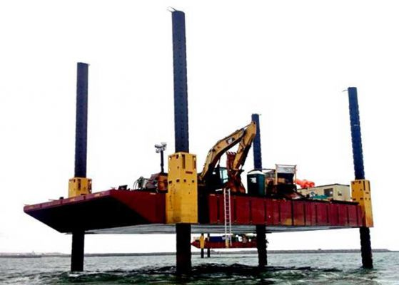 80' x 50' Flexi-Float Modular Jack Up Barge 2012 For Sale