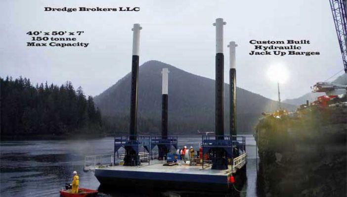 50' x 40' Modular Jack-Up Barge - DWT 150 For Sale