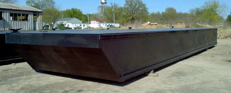 48' x 24' Inland Deck Barge - Sectional - DWT 150 For Sale