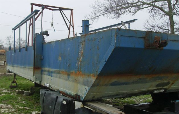 40' x 12' Inland Deck Spud Barge 2008 - Ramp For Sale