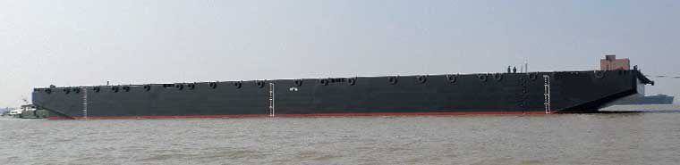282' x 90' Ocean Deck Barge - DWT 400 For Sale