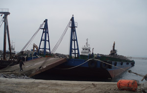 75m Stone Deck Barge 2010 - 30t m2 Deck Strength - DWT 3600 For Sale