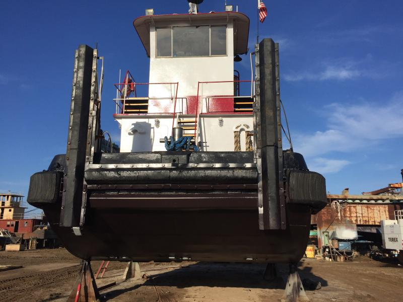 37' Inland Push Boat Dredge Tender - HP 600 For Sale