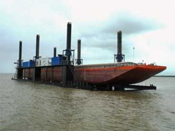 280' x 72' Jack Up Dry Dock 2009 - Lift Capacity 600 Ton For Sale