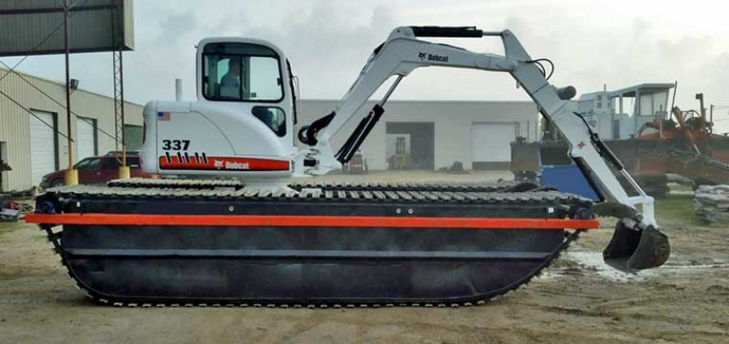 337 Bobcat Excavator Mounted On Amphibious Undercarriage For Sale
