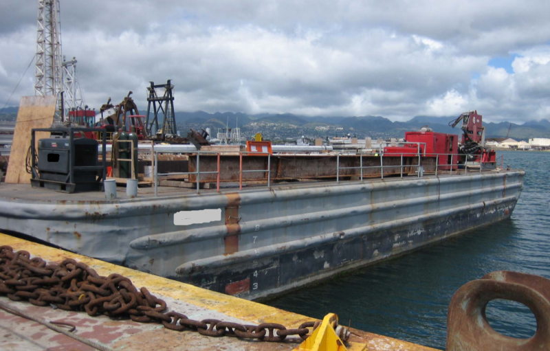 110' x 34' Inland Deck Barge For Sale