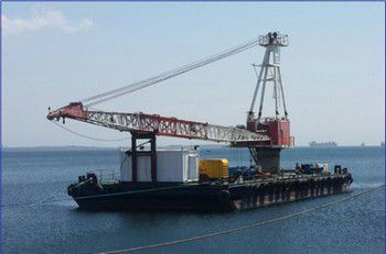 112' x 52' Crane Barge Bucyrus Erie MK-100 - Rated 110 Tons For Sale