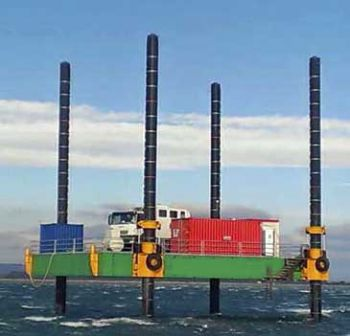 65' x 41' Self Elevating Barge - Capacity 88 tons For Sale