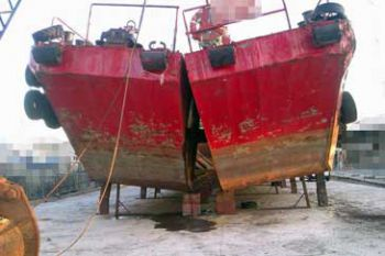 104' Self Propelled Split Hopper Barge - Capacity 250 m3 For Sale