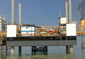 94' Jack - UP Work Barge 1999 - Payload 600 Tons For Sale