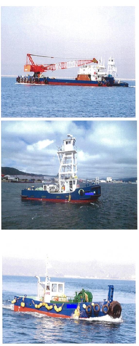 37m Kobelco Crane Barge - 70 Tons Crane Capacity For Sale
