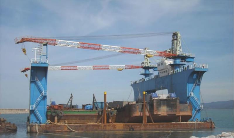 53m Floating Dry Dock 7000 ton Lift For Sale