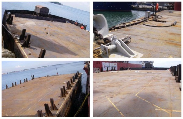 91m Ballastable Deck Cargo Barge 2007 - 15T M2 Deck Load - DWT 11500 For Sale