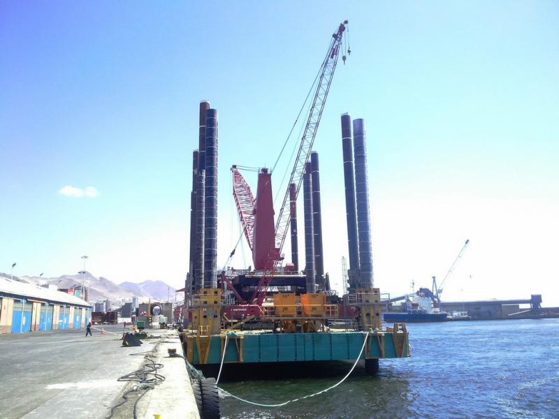 30m Jack Up Barge For Sale 400 ton lift
