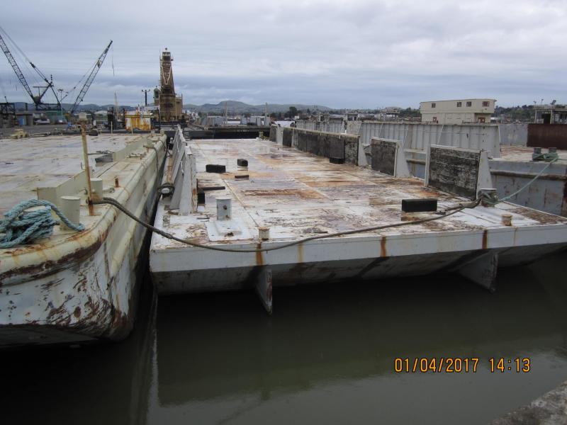 125 Feet Ex US Navy Barge For Sale